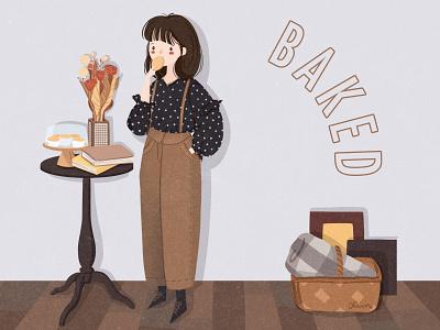 Girl1-Teatime girl illustration
