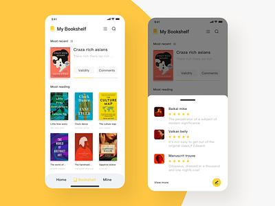 Reading APP readbook responsive book cover color reader drsign animation app reading bookself read shelf reading app web clean app design