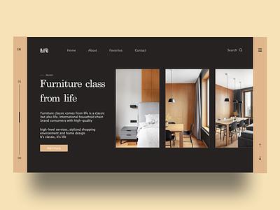 Furniture Store  Web designs furniture website furniture furniture app furniture design branding black  white ux web ui  ux design