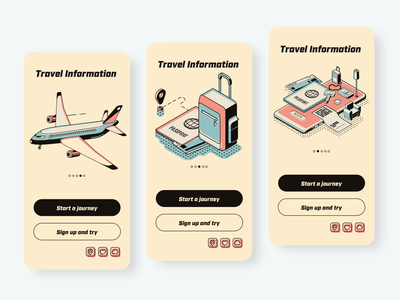 Travel app design-two travel app training travel yellowstone yello ui ux illustration animation app colour black  white clean app ui  ux design