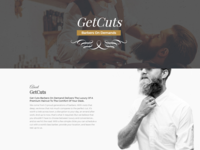 Website Design for a Barber Shop GetCuts