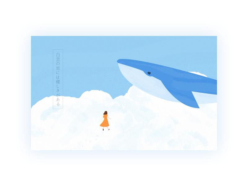 Whale 插图 设计 插画