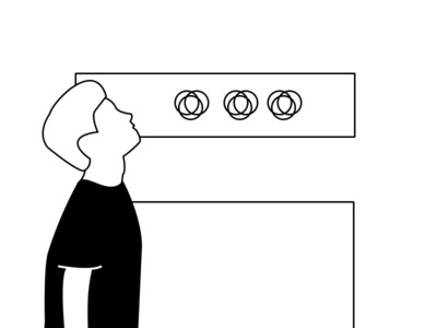黑白线稿冥想 插画 设计 插图
