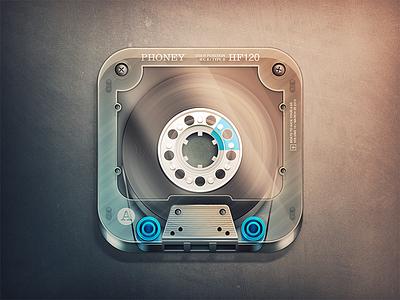 Cassette App Icon cassette tape ios app app icon vintage photoshop 2d icon