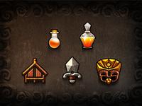 Tiki Kingdom Icons