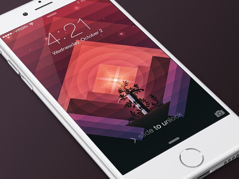 Sword in the Stone iPhone Wallpaper freebie download ios wallpaper colorful sword triangles retina iphone