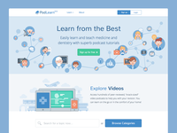 PodLearn Landing Page