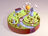 Camp Lands Microscape