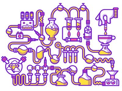 Alchemy contest alchemy chemistry vector illustration stickermule illustrator fun cute