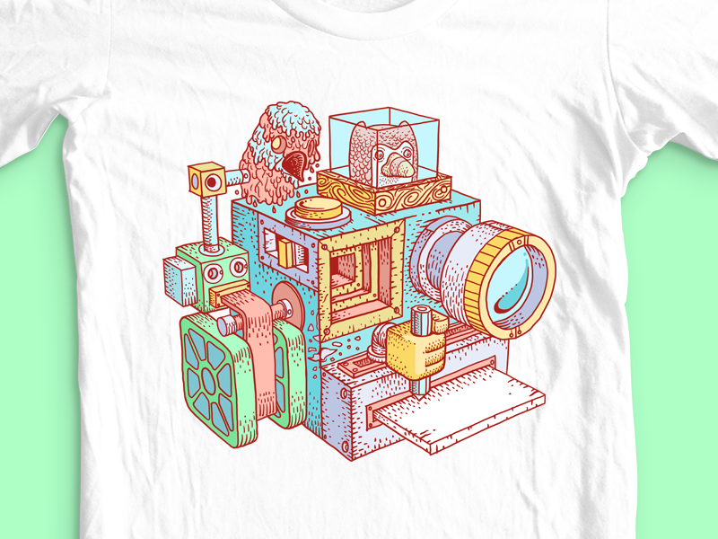 Creator Cam digital painting photoshop shirt threadless camera illustration