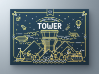 Tower Greeting Card