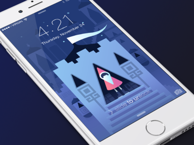 Xmas Valley iPhone Wallpaper
