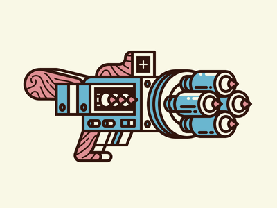 PENCIL LAUNCHER rifle simple vector weapon gun illustration