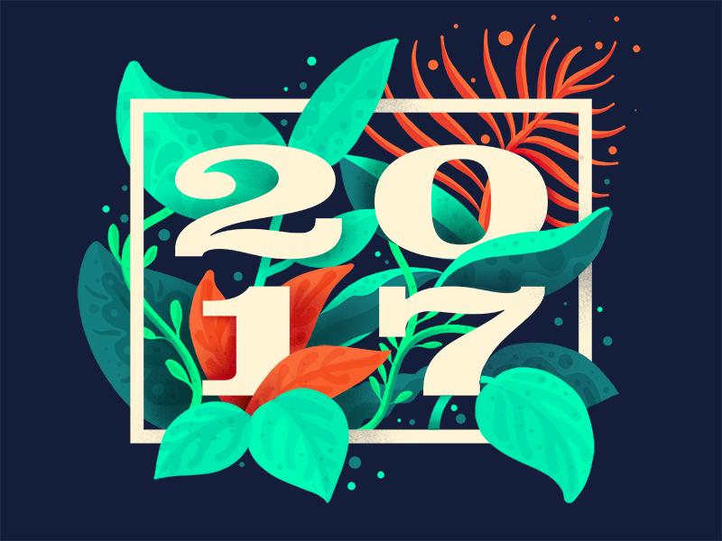 Blooming 2017 procreate illustration typography 2017 plant flower flourish floral