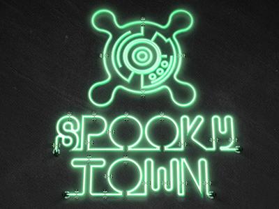 Spooky town logotype