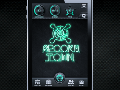 Spooky Town Overall Look interface mobile iphone game gui