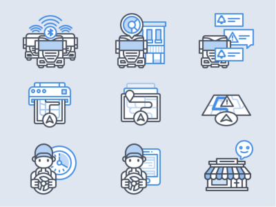 Trucking Spot Illustrations