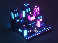 Isometric Neon City