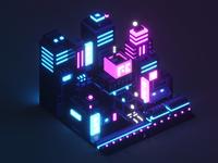 Isometric Neon City