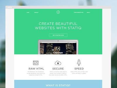 Statiq Homepage layout green blog themes statiq web static gotham