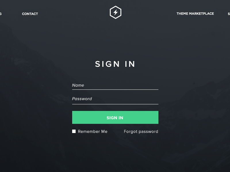 Statiq Login WIP signin form light minimal login hq green statiq ui