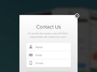 F contact form dribbbles