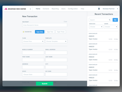 Payment Form Shot payment forms dashboard transactions ui ux hq