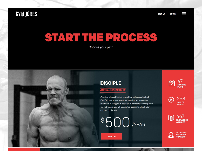 Online gym memberships