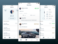 Social Banking App money sharing share ui iphone app banking social