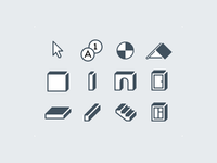 toolbar flat icons