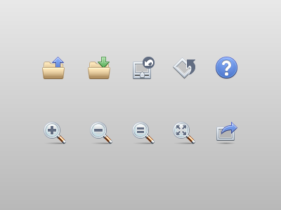 Toolbar icons toolbar