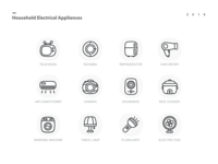 electric appliance icon-line