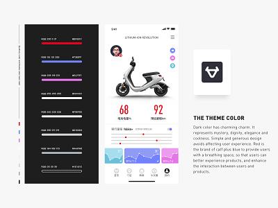 niu app design riding applicaiton ui desgin design app icon ux ui