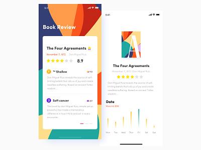 """Book evaluation application"" UI design book application ux design font color application app icon ui deisgn ui"
