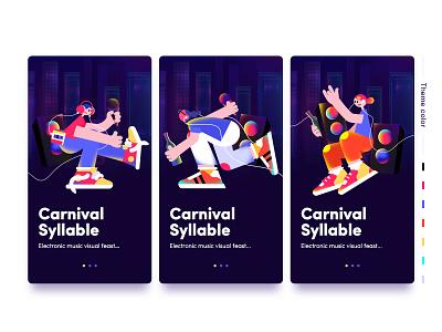 Electronic music festival character illustration application color vector ui app illustration character illustration illustration design design