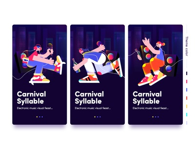 Electronic music festival character illustration