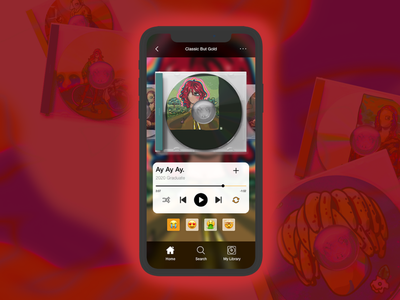 Retro Music App illustration vector melbourne icon app ux ui branding design music music app
