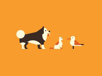 🐕🐈🐓 derp animals simple bird seagull cat dog