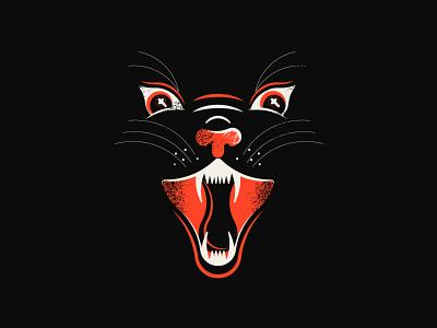 🔥 texture retro cat illustration hail satan purr kitty meow ghost cat fire and brimstones