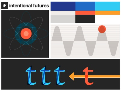 Testing some explorations technology style agency intentional futures illustration brand