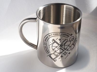 Shiny swag: Mug deploy friday shiny astronaut coffee space mug gift swag