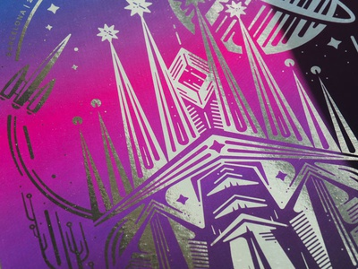Shiny Swag: Poster sci fi rocet space platform.sh deploy friday barcelona poster swag shiny
