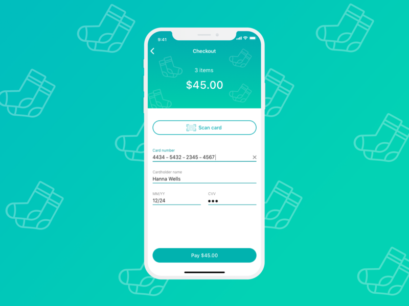 Daily UI #002: Card checkout