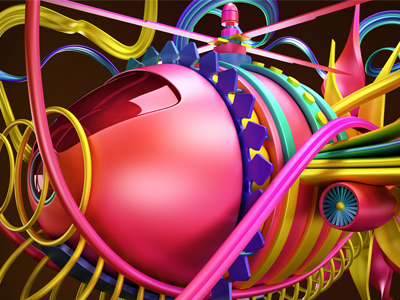 Abstract5 render pink red liens illstration fly color plane abstract 3d