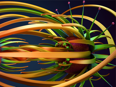 Abstract6 background art render liens orange green abstract lines design illstration color 3d