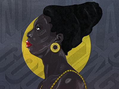 Nina Simone africa artist adobe art illustration digital nina simone
