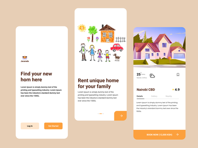 Home Finder APP home ui  ux landing page illustration typography rental app