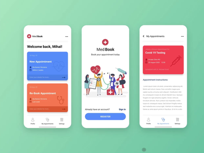 Medical booking app concept animation app xd ui  ux ui animation animated uidesign adobe xd graphicdesignui userinterface appdesign gfxmob dailyui userexperience