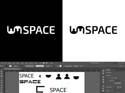 Coworking Space Logo Design Process