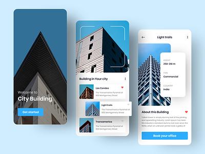 City Building App colorful home screen design ui ux ios building city app icon